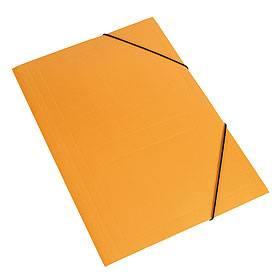 Carpeta 3 Solapas C/elástico Oficio Color Naranja