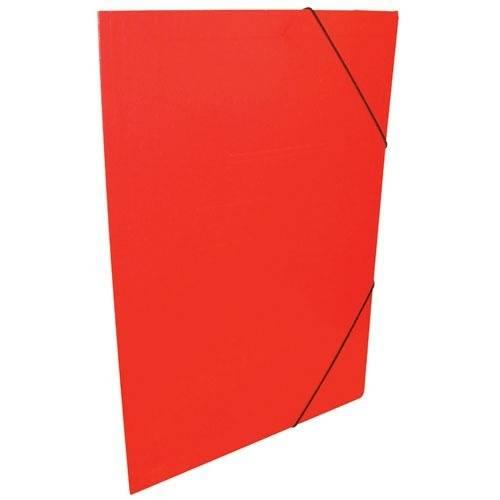 Carpeta 3 Solapas C/elástico Oficio Color Rojo