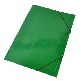Carpeta 3 Solapas C/elástico 35x50 Plastificada Verde