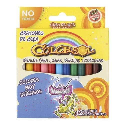 Crayones Colorsol X 12 Cortos