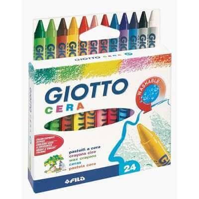 Crayones Giotto De Cera X 24 Colores