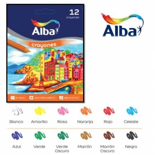 Crayones Alba X 12 Cortos