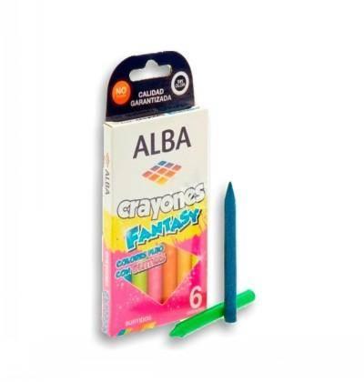 Crayones Alba Glitter X 6 Cortos