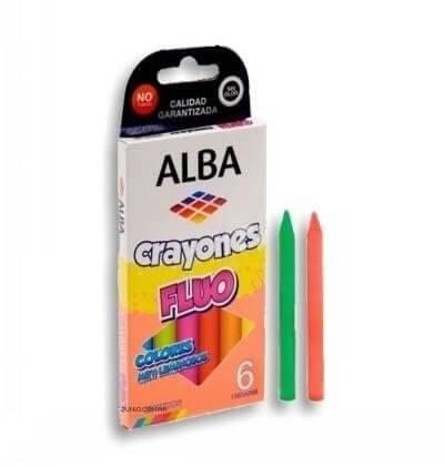 Crayones Alba Fluo X 6 Cortos