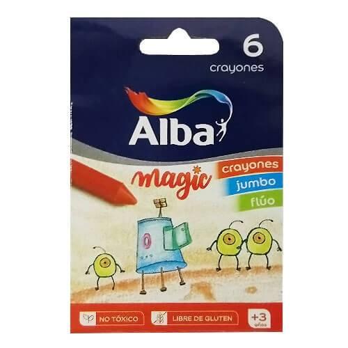 Crayones Alba Magic Kinder Fluo X 6 Cortos