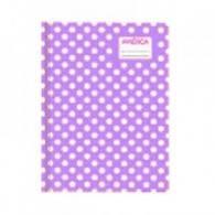 Cuaderno América T/c Lunares Lila 42 Hjs Rayado