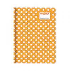 Cuaderno América T/c Lunares Naranja 42 Hjs Rayado