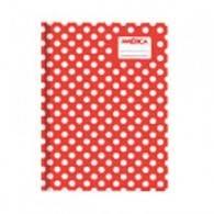 Cuaderno América T/c Lunares Rojo 42 Hjs Rayado