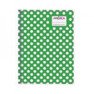 Cuaderno América T/c Lunares Verde 42 Hjs Rayado