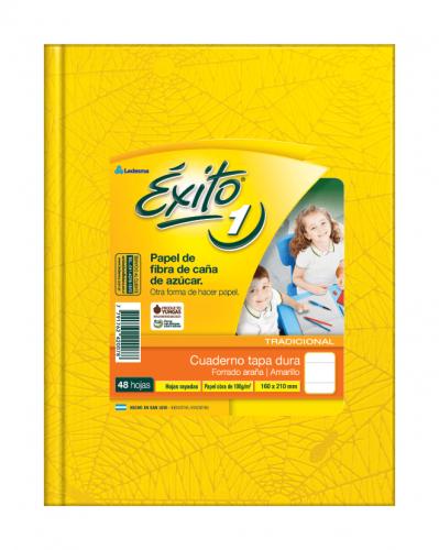 Cuaderno Éxito Forrado T/d 48 Hjs Rayado Amarillo