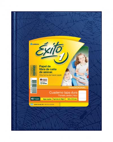 Cuaderno Éxito Forrado T/d 48 Hjs Rayado Azul