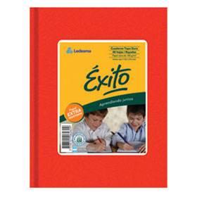 Cuaderno Éxito Forrado T/d 100 Hjs Cuadriculado Rojo