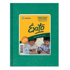 Cuaderno Éxito Forrado T/d 100 Hjs Cuadriculado Verde