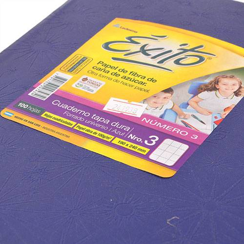 Cuaderno Éxito 19x24 Forrado Td 100 Hjs Rayado Azul