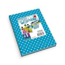 Cuaderno Laprida Lunares T/d 50 Hjs Rayado Celeste
