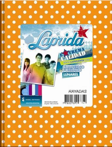 Cuaderno Laprida Lunares T/d 50 Hjs Rayado Naranja