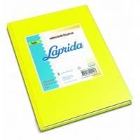 Cuaderno Laprida Forrado T/d 50 Hjs Rayado Amarillo
