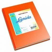 Cuaderno Laprida Forrado T/d 50 Hjs Rayado Naranja