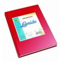 Cuaderno Laprida Forrado T/d 50 Hjs Rayado Rojo