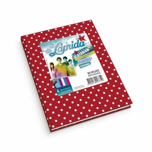 Cuaderno Laprida Lunares T/d 50 Hjs Rayado Rojo