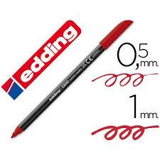 Marcador Edding E1200 Rojo
