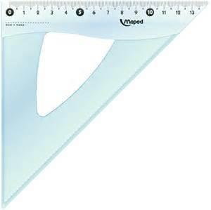 Escuadra Escolar Maped Cristal 20 Cm X 45º
