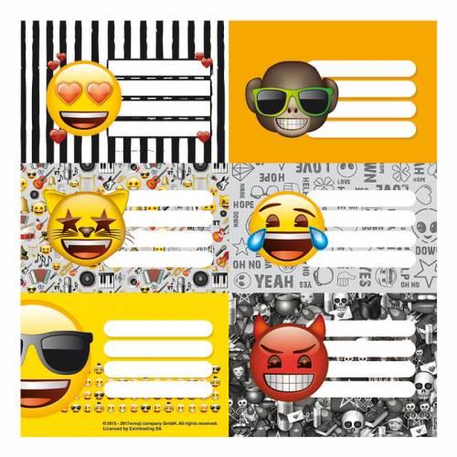 Etiqueta Escolar Mooving (2x6) Emoji 301179