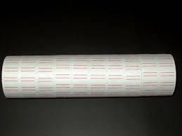 Etiquetas Blancas Tubo X 10 Rollos P/precios