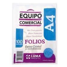 Folio Luma A4 X 100 Polipropileno Equipo Comercial