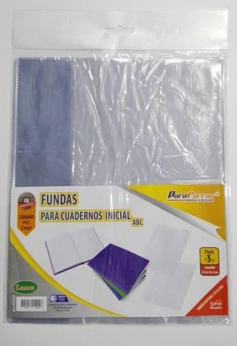 Funda Pvc 4125 P/cuaderno Abc Paq X 10 Unid