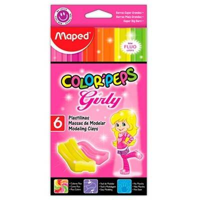 Plastilinas Maped Color Peps Girls Fluo X 6 Unid