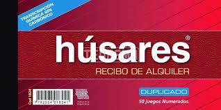 Recibi Húsares De Alquiler 1824 Duplicado X 50