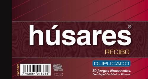 Recibi Húsares General 1825 Duplicado X 50