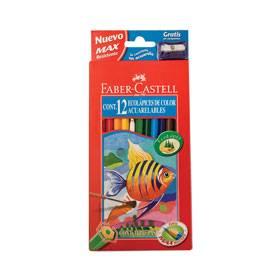 Lapices De Colores Faber Acuarelable X 12 Largos