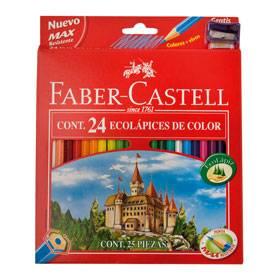 Lapices De Colores Faber Ecolapiz X 24 Largos