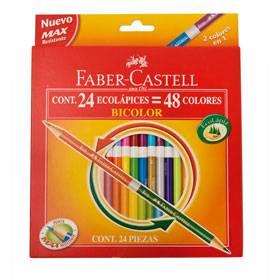 Lapices De Colores Faber Bicolor X 24 Largos