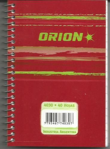 Libreta Orion C/espiral 4030 40hjs