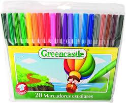 Marcadores Greencastle Escolar X 20 Colores