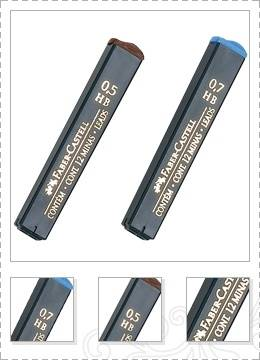 Minas Faber De Grafito Tubo X 12 Unid 0,5mm 2b Caja X 12 Un