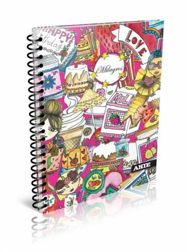 Cuaderno Arte Milagros 16x21 C/esp X 80 Hjs Rayado