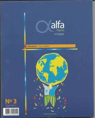 Mapa Alfa N°3 Físico Político America Central 40 Hjs
