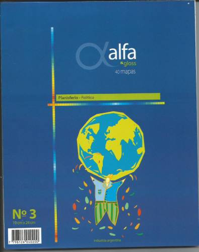 Mapa Alfa N°3 Político América Central 40 Hjs