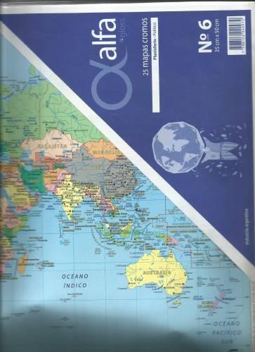 Mapa Alfa N°6 Físico Político África 25 Hjs
