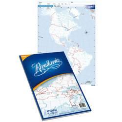 Mapa Rivadavia N°3 Político Planisferio 40 Hjs