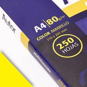 Papel Ledesma Autor 80 Gr A4 Color Amarillo X 250 Hj