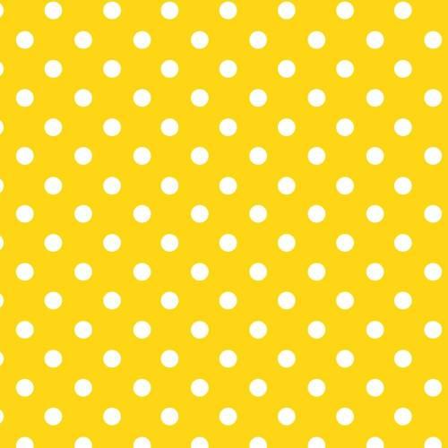 Papel Lunares Blanco Fondo Amarillo