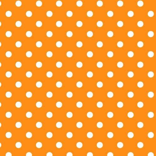 Papel Lunares Blanco Fondo Naranja