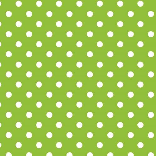 Papel Lunares Blanco Fondo Verde Manzana