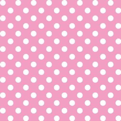 Papel Lunares Blanco Fondo Rosa