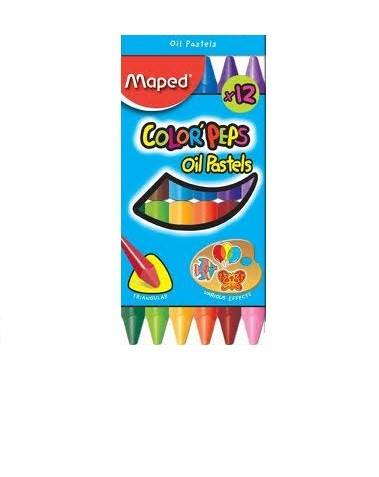 Pastel Al Oleo Maped Color Peps X 12 Unid